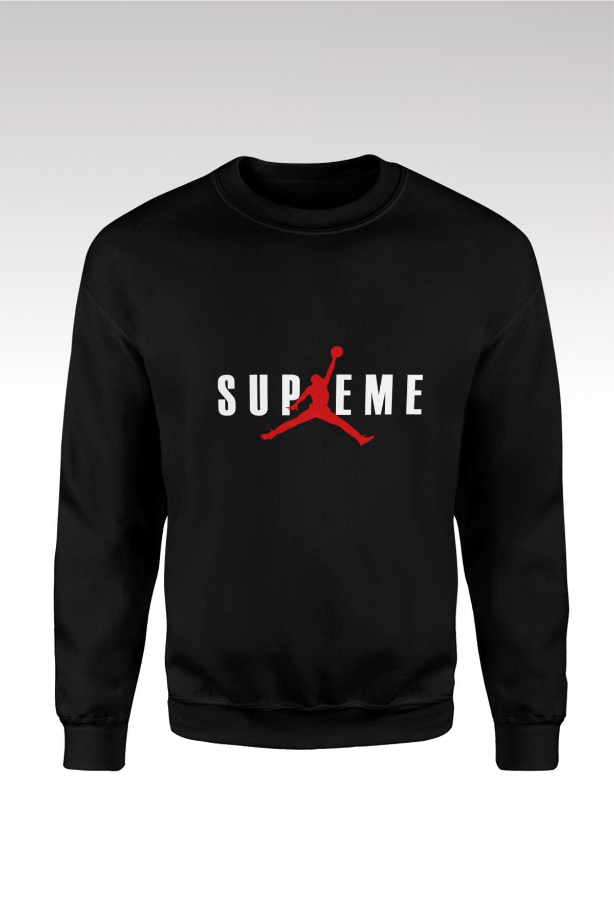 JumpMan 191 Siyah Sweatshirt