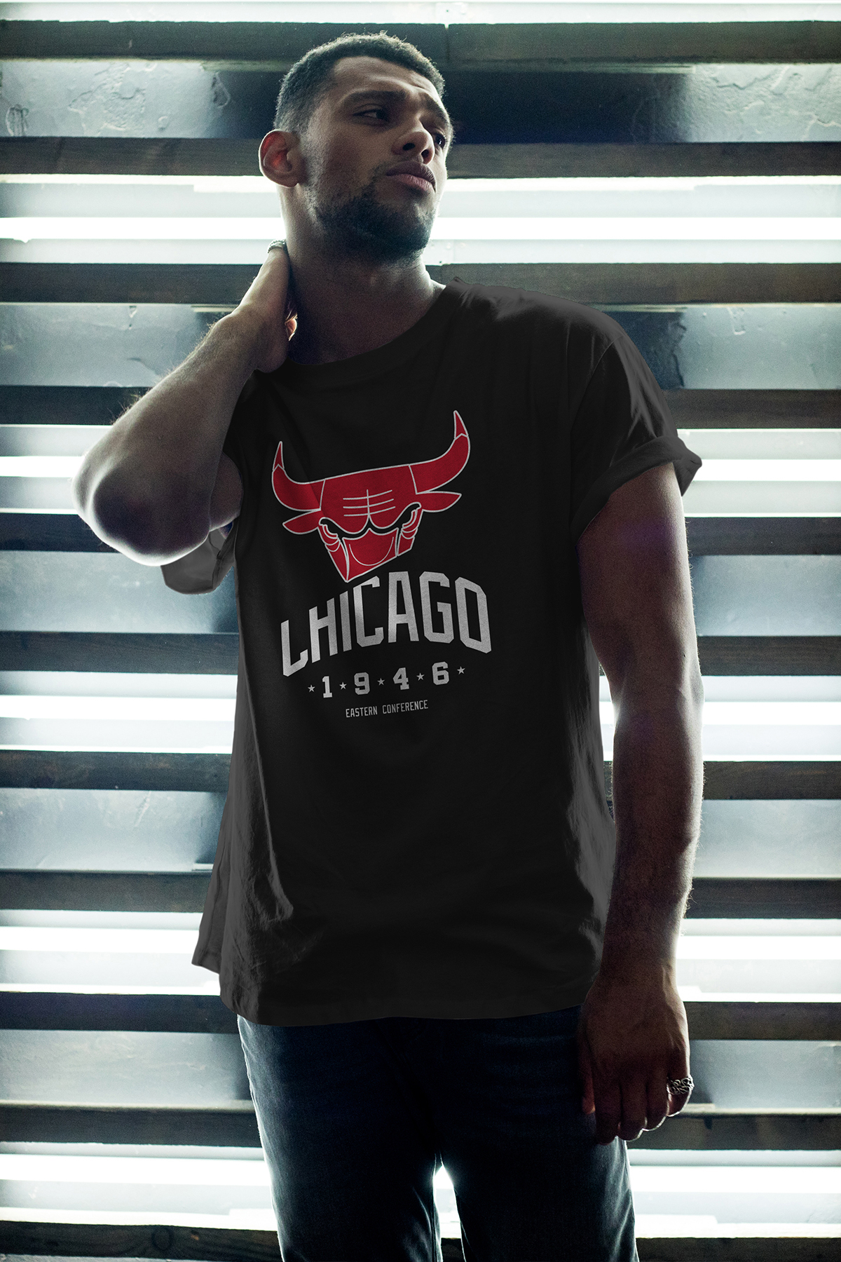 Chicago Bulls 37 Siyah Erkek Oversize Tshirt - Tişört
